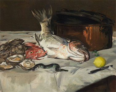 <i>Fish (Still Life)</i>, Édouard Manet. Animation: Sharon Pak