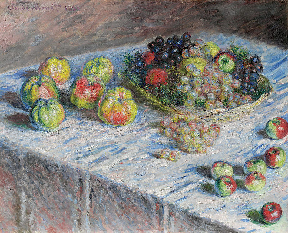 <i>Apples and Grapes</i>, Claude Monet. Animation: Kristen Shea