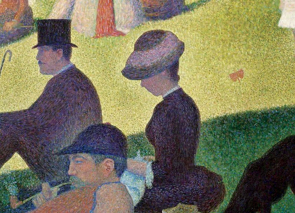 <i>A Sunday on La Grande Jatte</i> (detail), Georges Seurat. Animation: Nick Flaherty