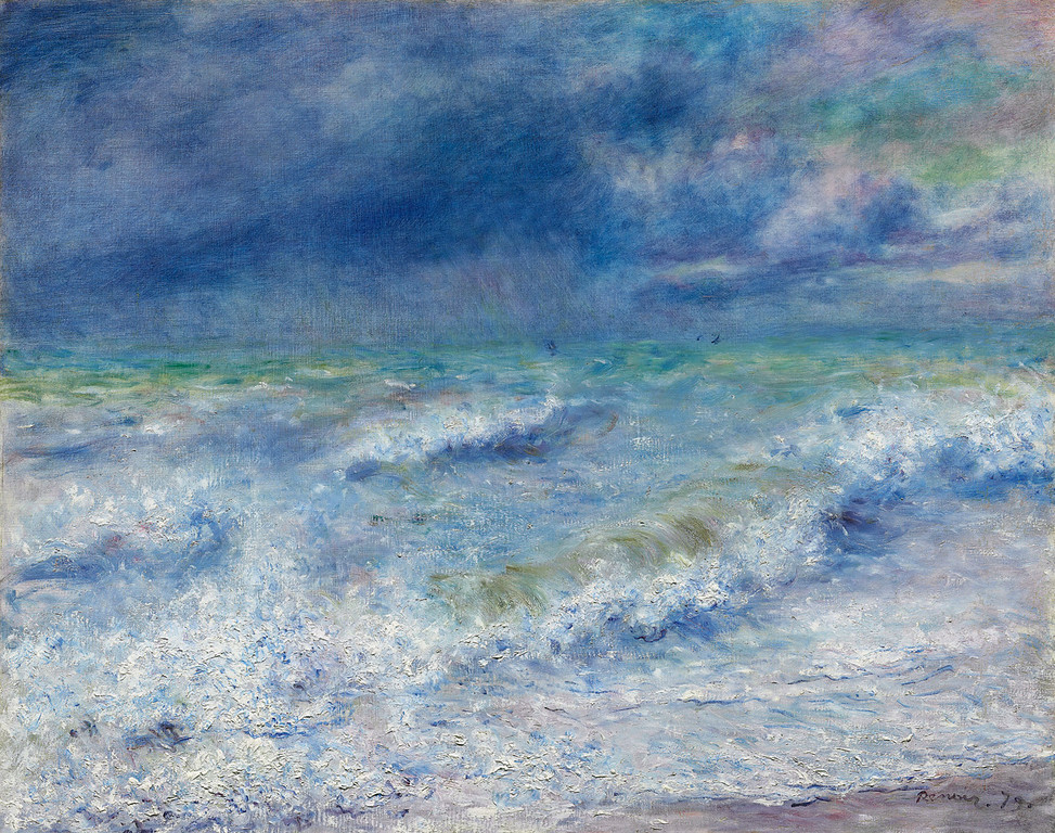 <i>Seascape</i>, Pierre-Auguste Renoir. Animation: Benji Sayed