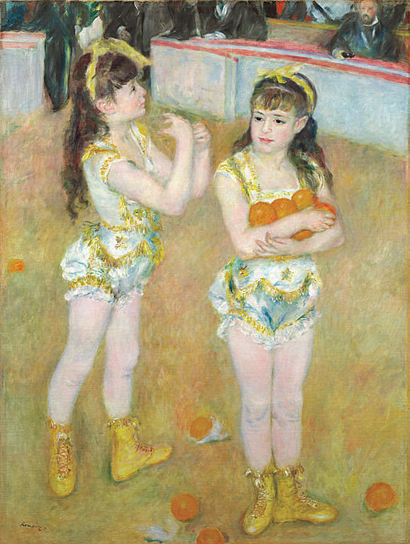 <i>Acrobats at the Cirque Fernando</i>, Pierre-Auguste Renoir. Animation: Ferrell Lamothe