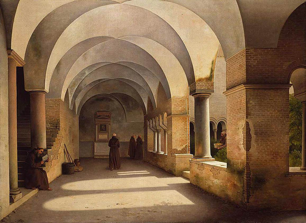 <i>The Cloisters</i>, Christoffer Wilhelm Eckersberg. Animation: Saverio Caponi