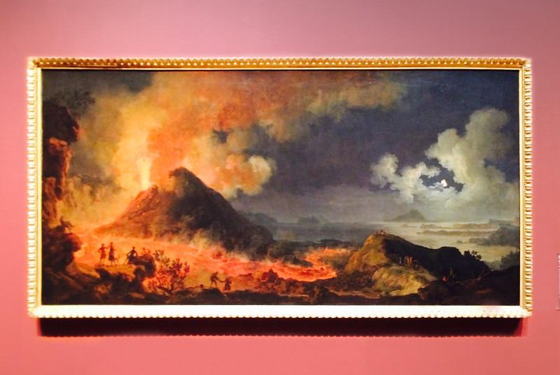 <i>The Eruption of Vesuvius</i>, Pierre-Jacques Volaire. Animation: Saverio Caponi