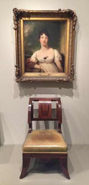 <i>Chair</i>, Thomas Hope. <i>Anna Maria Dashwood</i>, Sir Thomas Lawrence. Animation: Jarad Solomon