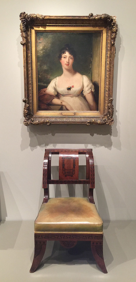 <i>Chair</i>, Thomas Hope. <i>Anna Maria Dashwood</i>, Sir Thomas Lawrence. Animation: Jarad Solomon