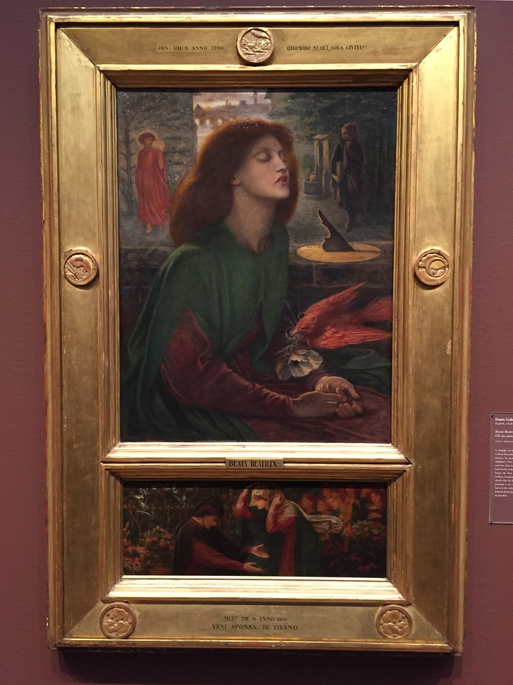 <i>Beata Beatrix</i>, Dante Gabriel Rossetti. Animation: Claudia Hart