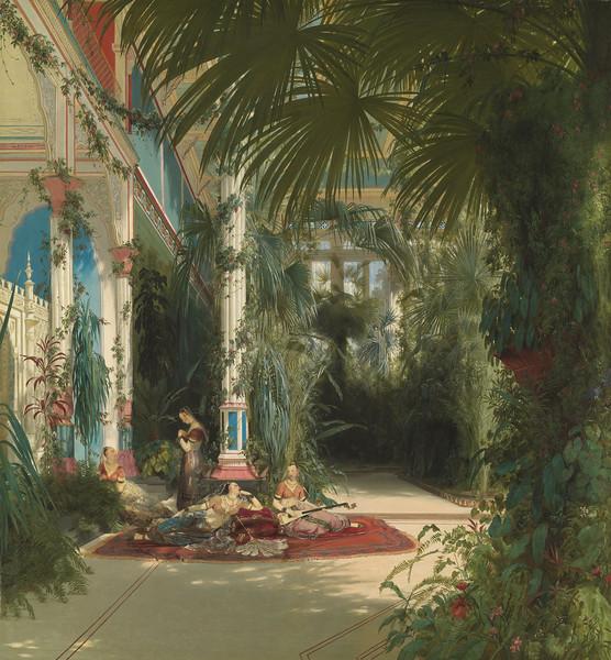 <i>The Interior of the Palm House on the Pfaueninsel Near Potsdam</i>, Carl Blechen. Animation: Daniel Brookman