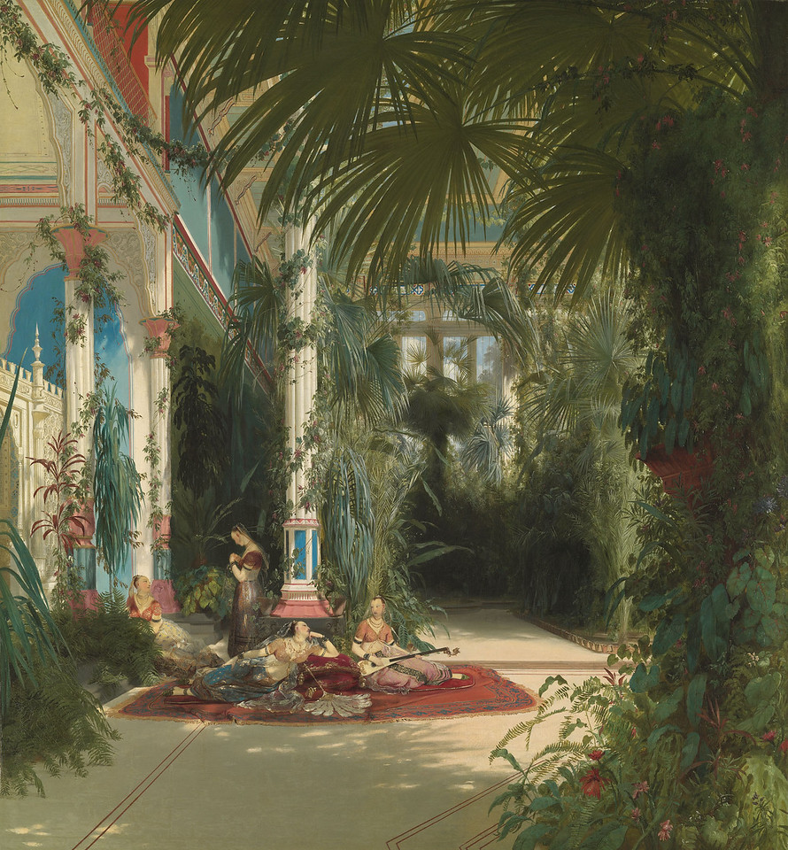 <i>The Interior of the Palm House on the Pfaueninsel Near Potsdam</i>, Carl Blechen. Animation: Daniel Brookman