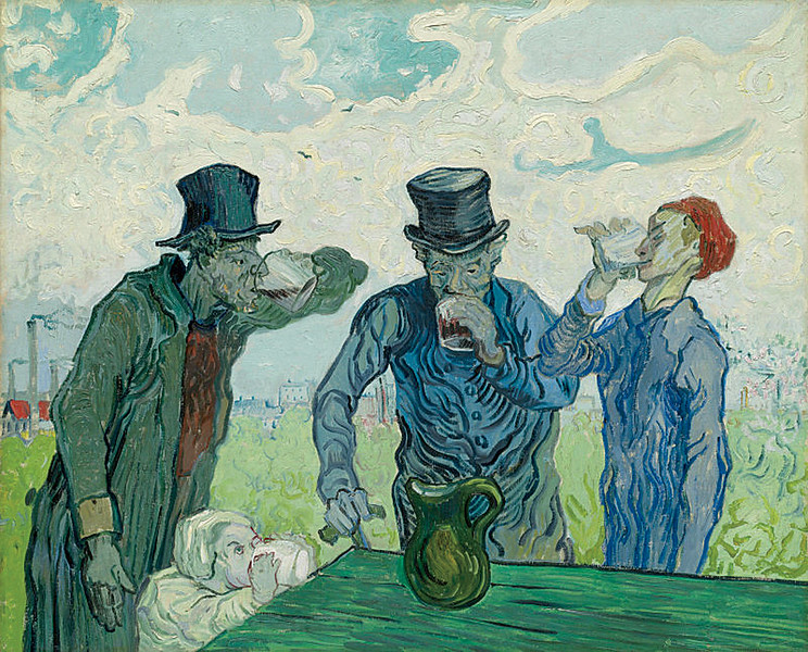 <i>The Drinkers</i>, Vincent van Gogh. Animation: Ferrell Lamothe
