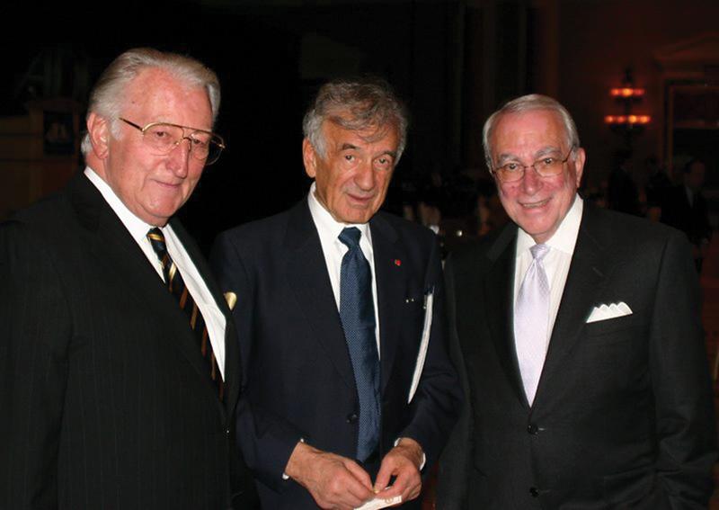 Dr. Pumerantz, Elie Wiesel, and Dr. Benjamin Cohen, c. 2000