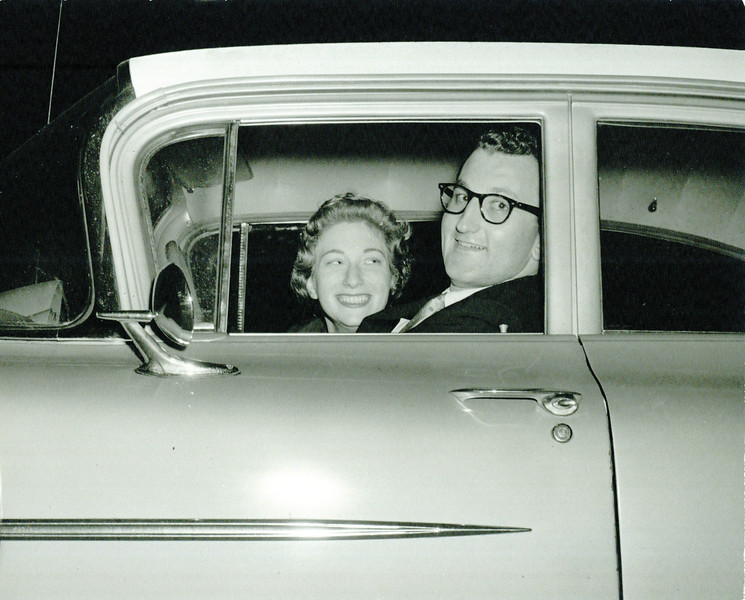 Philip and Harriet leaving their wedding, 1960