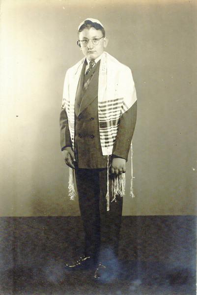 Philip Pumerantz's Bar Mitzvah, 1945