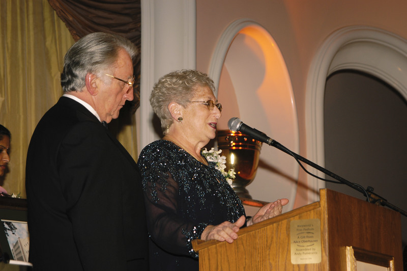 "Dr. and Mrs. Pumerantz were recognized with a special award at the University's premier gala ""A Tribute to Caring,"" coinciding with WesternU's 25th Anniversary, 2002"