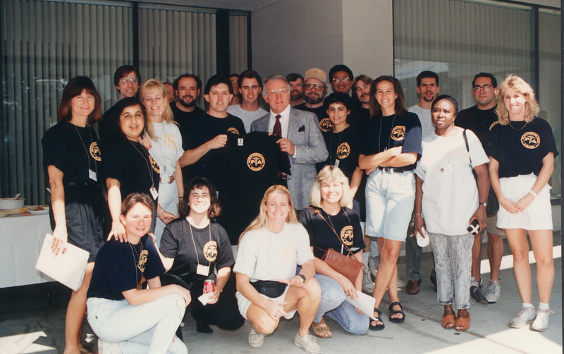 Dr. Pumerantz with the Physician Assistant group on PA Day, 1992