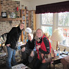 Dad Vicki and Steph, Dad's 80th Birthday