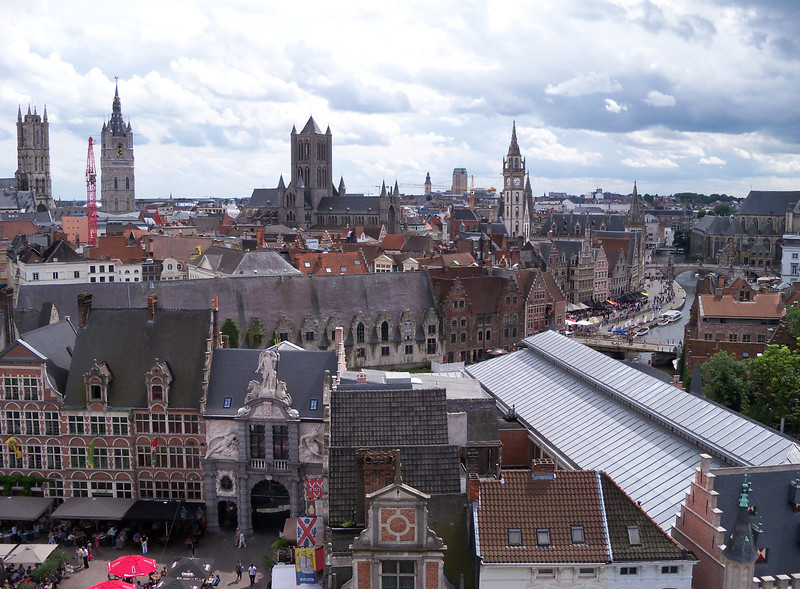 the towers of Ghent