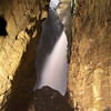 a small slot canyon has formed