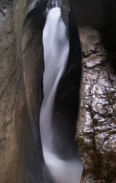 another narrow slot canyon formed from the water