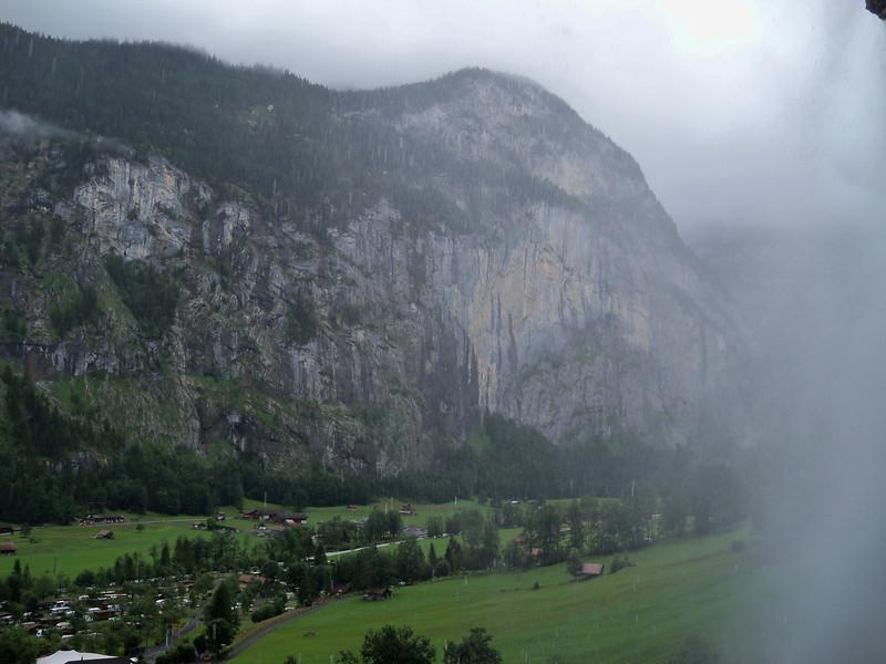 getting behind Staubach Falls