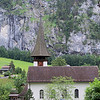 the church in Lauterbrunnen