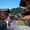 "The hike starts with a walk through ""town"" (Mürren)"