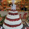 This shop sold gummy bears. This wedding cake is made completely of, you guessed it, gummy bears.