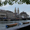 across the river, the twin towers of Grossmünster