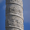 Karlskirche exterior column details. Modeled after Trajan's Column in Rome