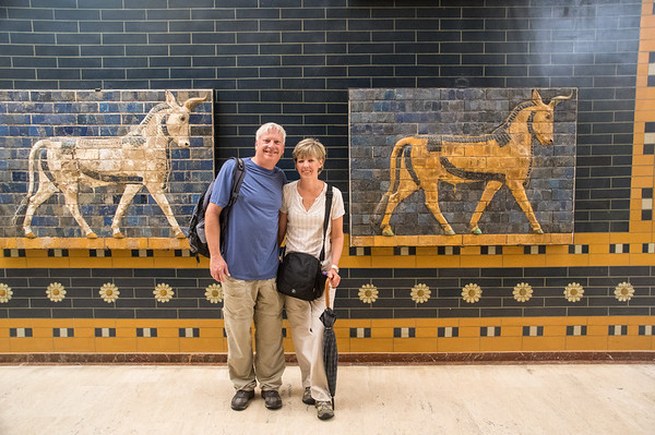 Bob and Susan, Aurochs from the Ishtar Gate.  4th Century BC