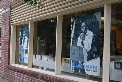 It was nice to see Miles in the windows of a Kansas City, Mo., record store after my visit to the American Jazz Museum. June 2011.