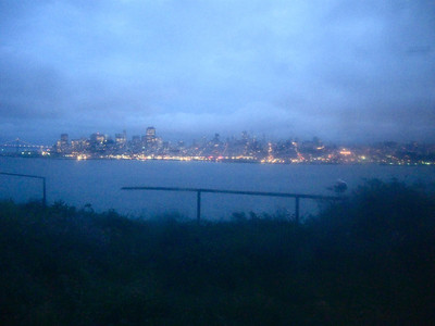 View of San Francisco from Alcatraz.