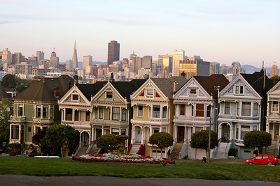 The Painted Ladies near Alamo Square.