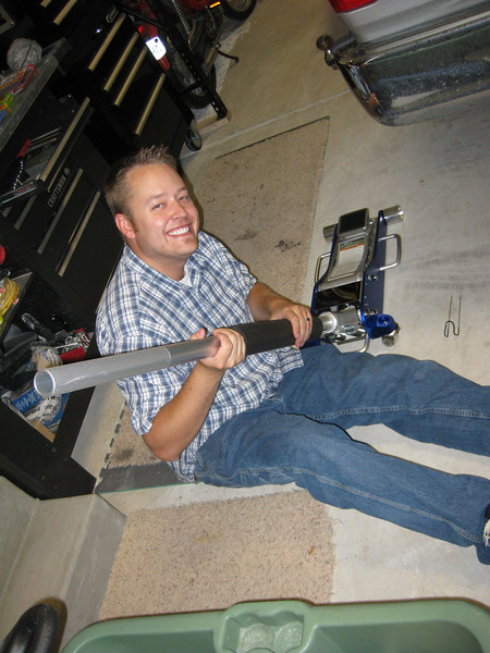 putting together my new floor jack..
