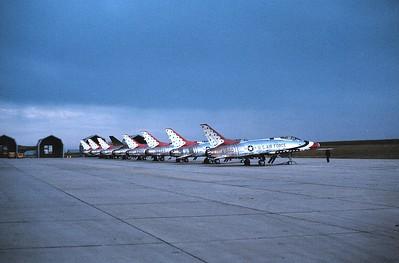 Thunderbirds F-100Cs Bitburg