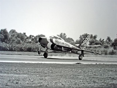 F-84G Landing