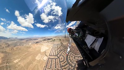 Vegas Goes Blue Flyover