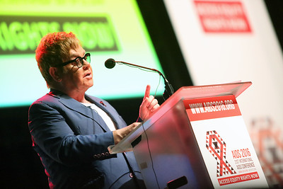 21st International AIDS Conference (AIDS 2016), Durban, South Africa. Thursday 21 July : Venue -Durban ICC Session Room 1 Ending AIDS with the Voices of Youth Sir Elton John, Elton John AIDS Foundation, United Kingdom  Photo©International AIDS Society/Abhi Indrarajan