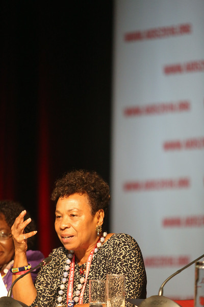 21st International AIDS Conference (AIDS 2016), Durban, South Africa.<br /> THSA06 Moving from Silos to Solidarity<br /> Thursday 21 July : Venue -Session Room 7<br /> US Congresswoman : Barbara Lee<br /> Photo©International AIDS Society/Abhi Indrarajan
