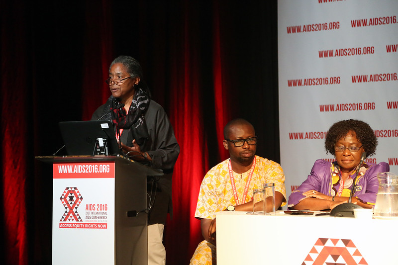 21st International AIDS Conference (AIDS 2016), Durban, South Africa.<br /> THSA06 Moving from Silos to Solidarity<br /> Thursday 21 July : Venue -Session Room 7<br /> Marsha Martin, Global Network of Black People working in HIV, United States <br /> Photo©International AIDS Society/Abhi Indrarajan