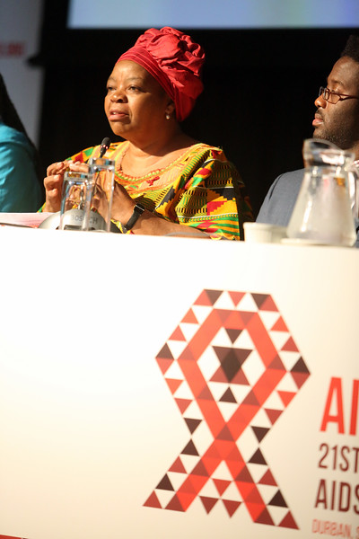 21st International AIDS Conference (AIDS 2016), Durban, South Africa.<br /> THSA06 Moving from Silos to Solidarity<br /> Thursday 21 July : Venue -Session Room 7<br /> Prof. Sheila Tlou<br /> Photo©International AIDS Society/Abhi Indrarajan