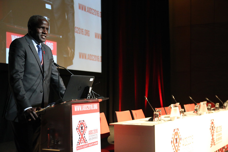 21st International AIDS Conference (AIDS 2016), Durban, South Africa.<br /> THSA06 Moving from Silos to Solidarity<br /> Thursday 21 July : Venue -Session Room 7<br /> Amadou Diagne<br /> Photo©International AIDS Society/Abhi Indrarajan