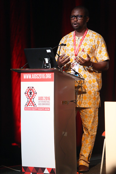 """21st International AIDS Conference (AIDS 2016), Durban, South Africa.<br /> THSA06 Moving from Silos to Solidarity<br /> Thursday 21 July : Venue -Session Room 7<br /> African Men for Sexual Health & Rights Executive Director : Kenechukwa """"Kene"""" Esom<br /> Photo©International AIDS Society/Abhi Indrarajan"""
