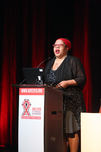 21st International AIDS Conference (AIDS 2016), Durban, South Africa.<br /> THSA06 Moving from Silos to Solidarity<br /> Thursday 21 July : Venue -Session Room 7<br /> Woman Now Chair : Dazon Dixon Diallo<br /> Photo©International AIDS Society/Abhi Indrarajan