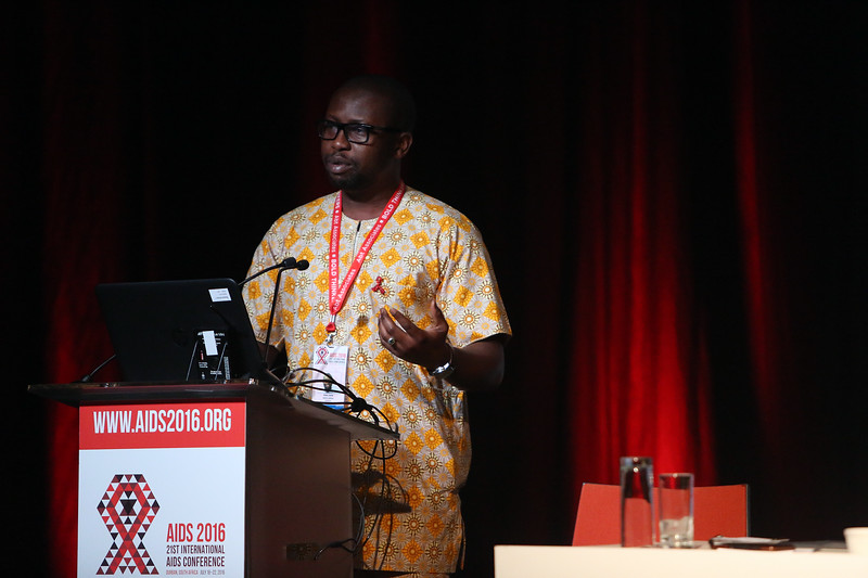 "21st International AIDS Conference (AIDS 2016), Durban, South Africa.<br /> THSA06 Moving from Silos to Solidarity<br /> Thursday 21 July : Venue -Session Room 7<br /> African Men for Sexual Health & Rights Executive Director : Kenechukwa ""Kene"" Esom<br /> Photo©International AIDS Society/Abhi Indrarajan"