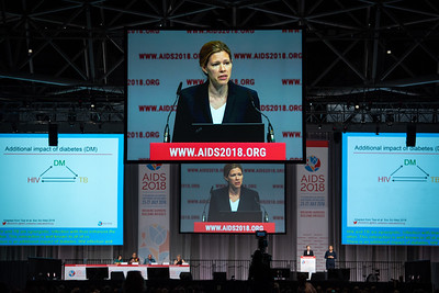 22nd International AIDS Conference (AIDS 2018) Amsterdam, Netherlands.   Copyright: Steve Forrest/Workers' Photos/ IAS  Photo shows: Thursday Plenary.