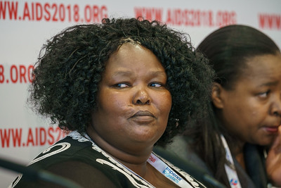 22nd International AIDS Conference (AIDS 2018) Amsterdam, Netherlands.   Copyright: Matthijs Immink/IAS  PRESS CONFERENCE Sex Workers & End Demand Policies  On the photo: Duduzile (Dudu) Dlamini