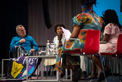 22nd International AIDS Conference (AIDS 2018) Amsterdam, Netherlands.   Copyright: Steve Forrest/Workers' Photos/ IAS  Photo shows: Special Session: The legacy of Prudence Mabele: Championing gender justice and health equity. From Left to Right: Shaun Mellors, International HIV/AIDS Alliance, United Kingdom; Princess Nothemba (Nono) Simelela, World Health Organization, Switzerland; Patrick Gaspard, Open Society Foundations, United States; Mercy Ngulube, CHIVA, United Kingdom; Yvette Raphael, APHA, South Africa.