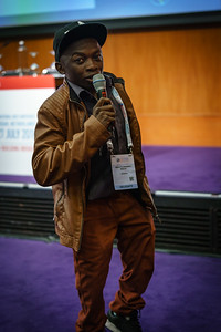 22nd International AIDS Conference (AIDS 2018) Amsterdam, Netherlands.   Copyright: Matthijs Immink/IAS  Young people at the centre: Community mobilization for youth-friendly HIV services  On the photo: Kelvin Makura