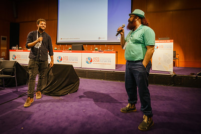 22nd International AIDS Conference (AIDS 2018) Amsterdam, Netherlands.   Copyright: Matthijs Immink/IAS  Young people at the centre: Community mobilization for youth-friendly HIV services  On the photo: icebreaker with audience