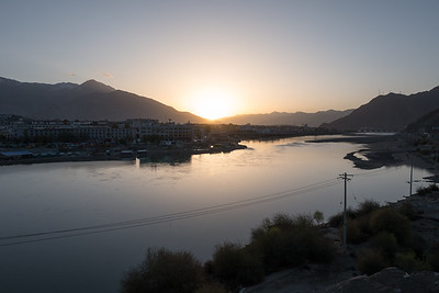 Sunrise over Lhasa River